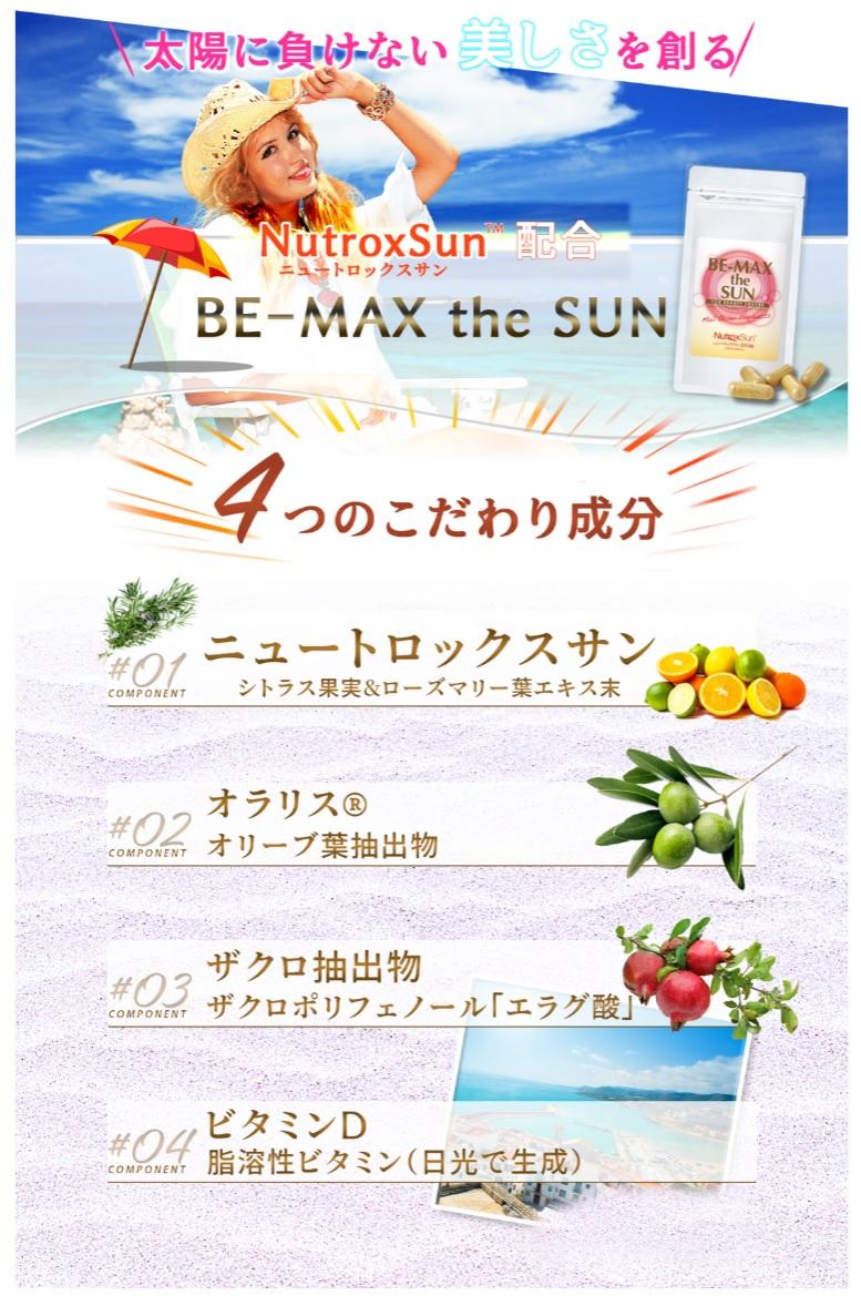 ビーマックス・ザ・サン(BE-MAX the SUN)ってどんなサプリメント?含まれている成分は?