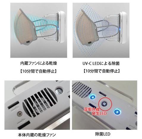 ULTRAWAVE 除菌マスクケース ver.2の機能と使い方