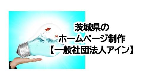 茨城県のホームページ制作【一般社団法人アイン】先着5名に無料コンサル有り!